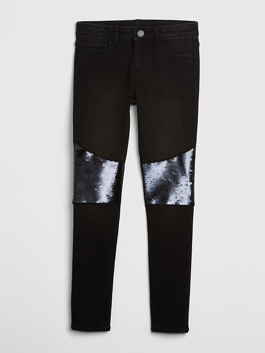 Kids Flippy Sequin Jeggings with Stretch