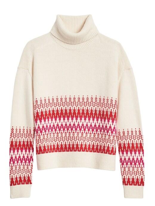 Petite Fair Isle Turtleneck Sweater
