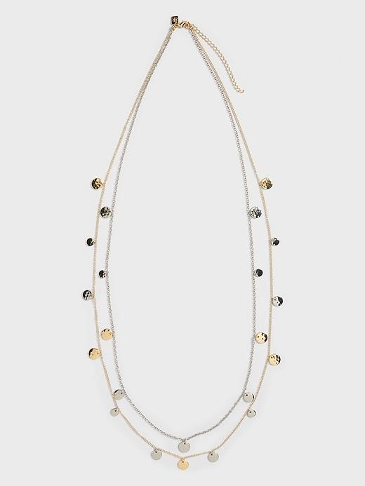Metallic Disc Necklace