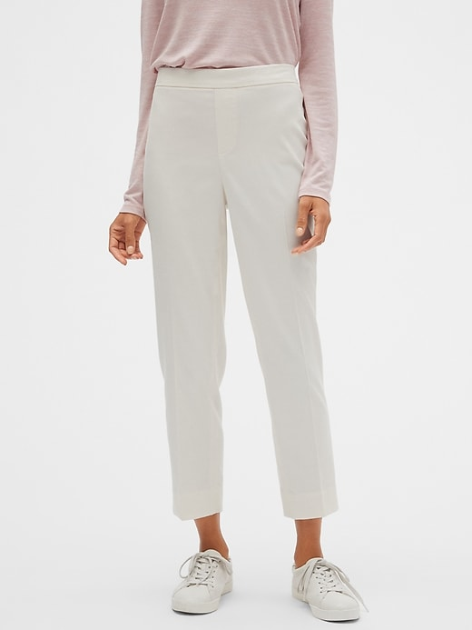 Hayden Pull-On Brushed Twill Ankle Pant