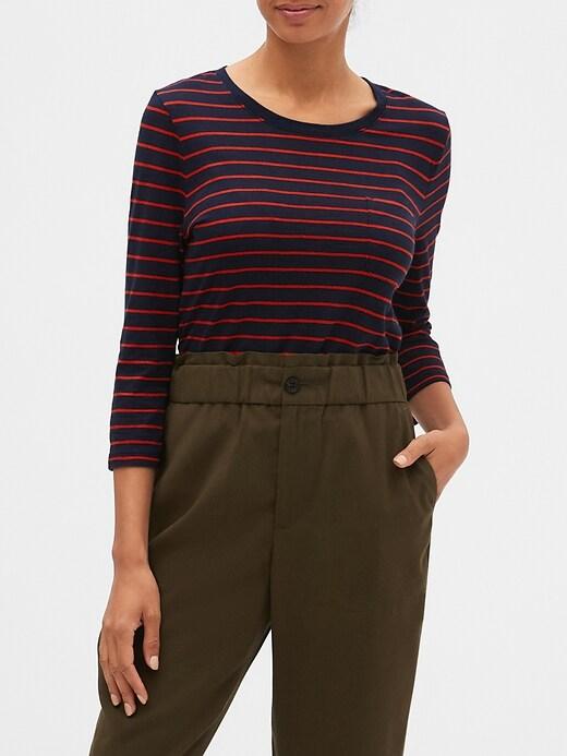 Stripe Malibu Step-Hem Top