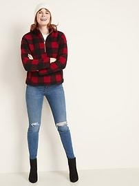 Plush Sherpa 1/4-Zip Pullover for Women