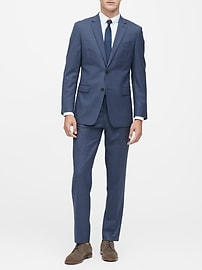 Standard Italian Wool Sharkskin Suit Pant