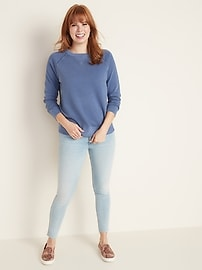 Relaxed Crew-Neck Sweatshirt for Women