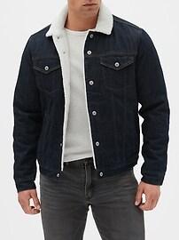 Sherpa-Lined Icon Denim Jacket