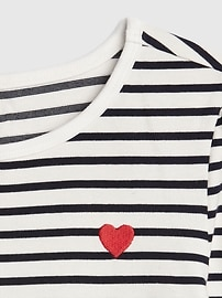 Kids Heart Stripe Fit and Flare Dress