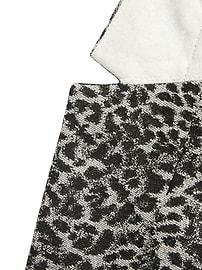 Blazer à imprimé léopard métallique, coupe longue et étroite