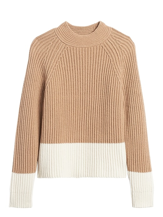 Petite Chunky Color-Block Sweater