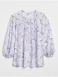 Print Blouson Sleeve Top