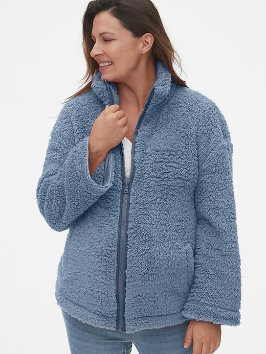 Maternity Sherpa Full-Zip Jacket