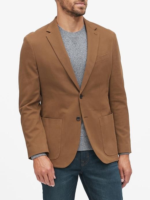 Slim Italian Cotton Blazer