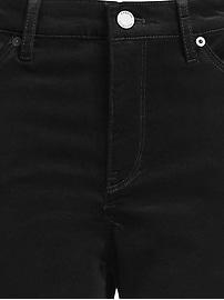 Pantalon en velours au sabre à coupe moulante et à taille moyenne, Petite