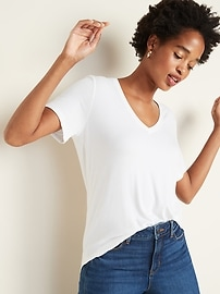 Luxe V-Neck Tee for Women