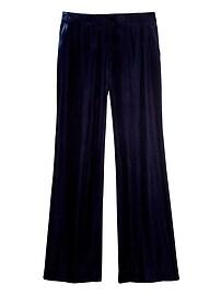 High-Rise Wide-Leg Velvet Pant