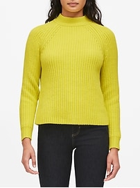 Petite Chunky High Crew-Neck Sweater