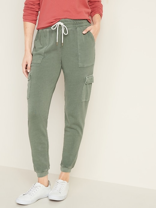 French Terry Cargo Street Joggers for Women