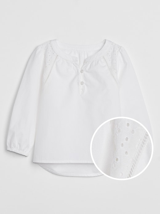 Toddler Eyelet Embroidered Top