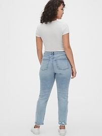 High Rise Distressed Cigarette Jeans with Secret Smoothing Pockets