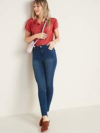 High-Waisted Rockstar 24/7 Super Skinny Jeans For Women