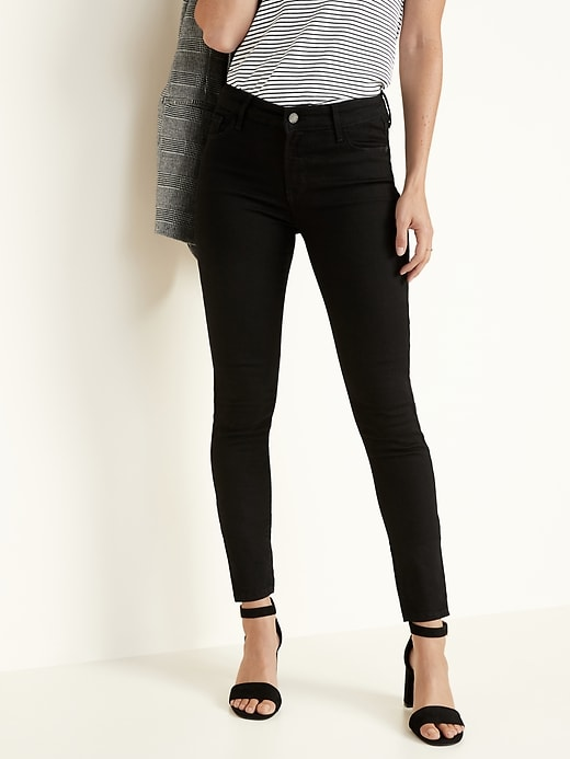 Mid-Rise Built-In-Sculpt Rockstar Super Skinny Jeans for Women