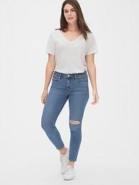 Soft Wear Mid Rise True Skinny Ankle Jeans