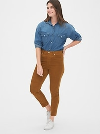 High Rise True Skinny Cords with Secret Smoothing Pockets