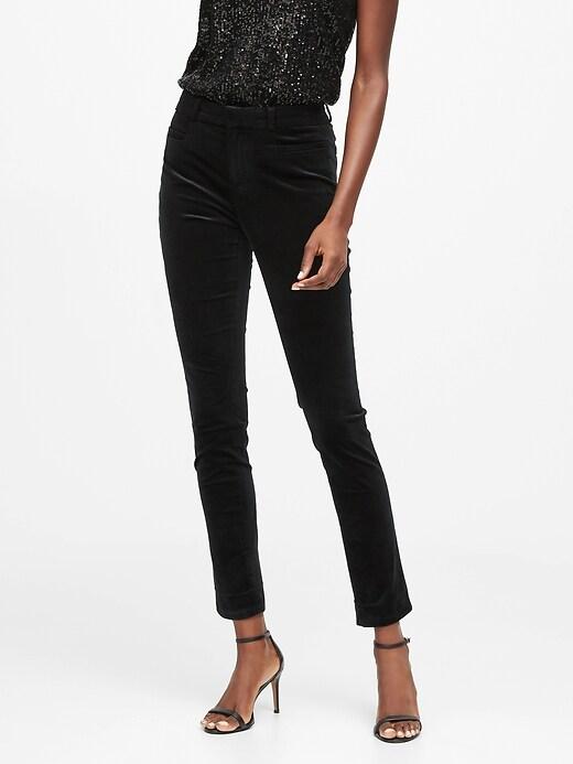 Modern Sloan Skinny-Fit Velvet Pant