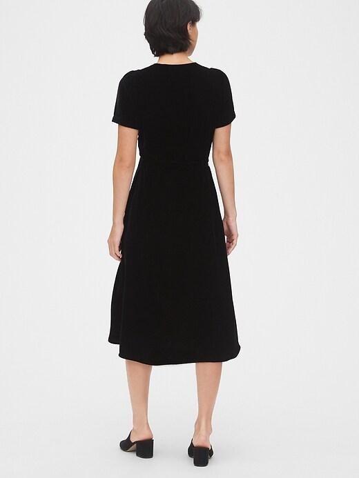 Velvet Midi Wrap Dress