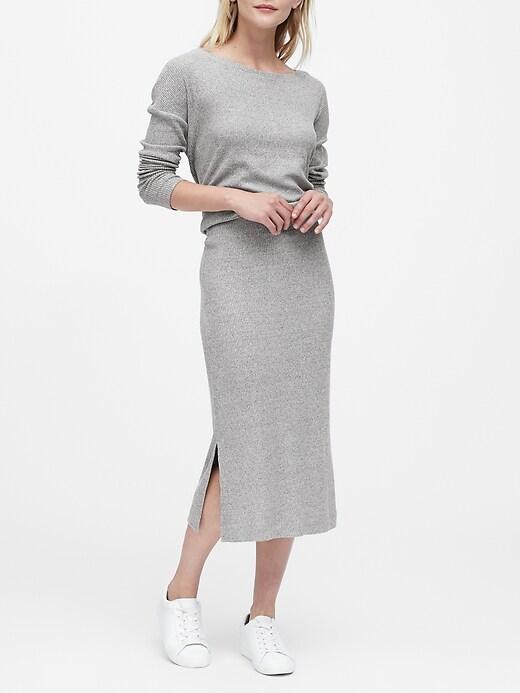 Luxespun Knit Pencil Skirt