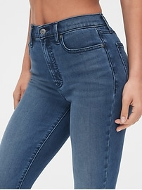 Soft Wear High Rise True Skinny Ankle Jeans with Secret Smoothing Pockets