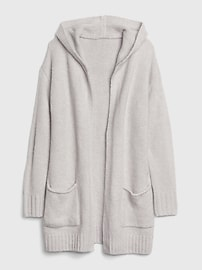 Longline Hoodie Cardigan Sweater