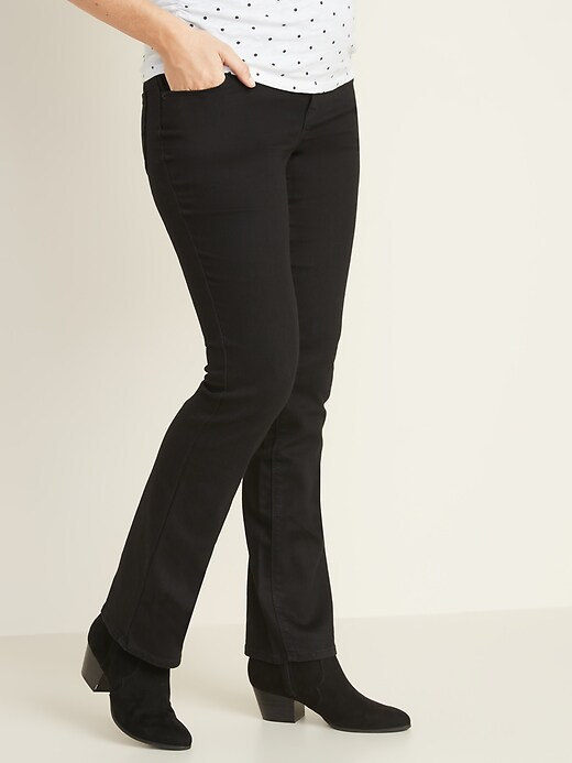 Maternity Full-Panel Black Boot-Cut Jeans