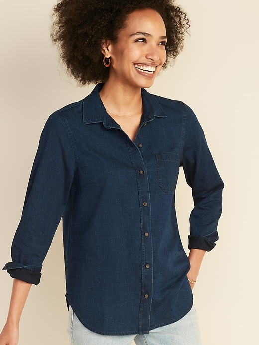 Chambray Classic Shirt for Women