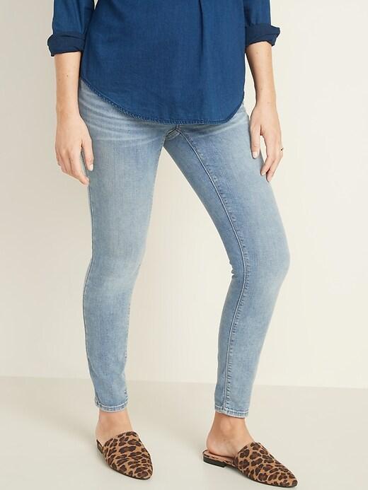 Maternity Premium Full-Panel Rockstar Super Skinny Jeans