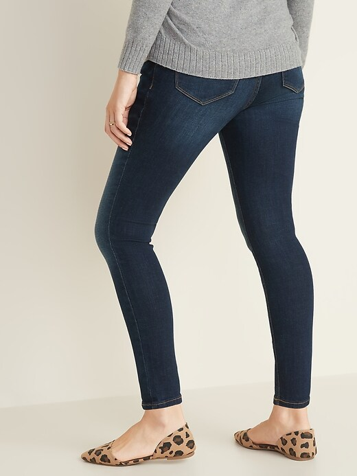 Maternity Front-Low Panel Rockstar Super Skinny Jeans