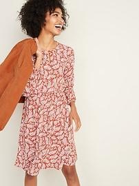 Waist-Defined Keyhole Dress for Women
