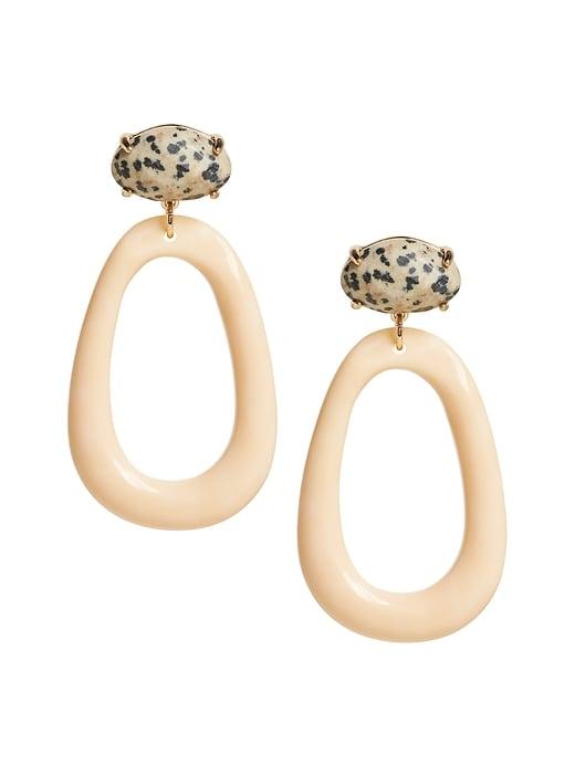 Oval Resin Earring