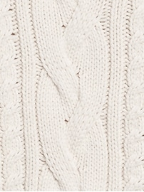 Cable-Knit Cropped Sweater