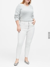 High-Rise Skinny Button Fly Jean