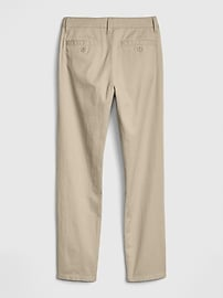 Kids Uniform Straight Chinos with Gap Shield