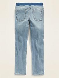 Karate Rib-Knit Waist Built-In Flex Max Distressed Jeans for Boys
