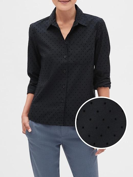 Untucked Flock Dot Classic Shirt
