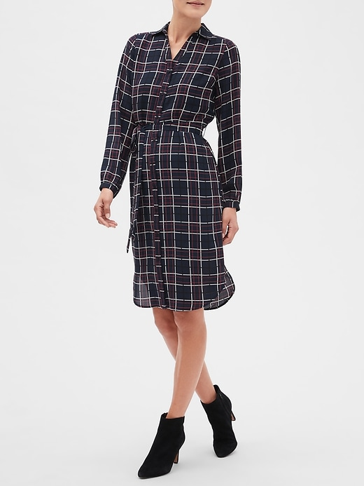 Petite Print Shirt Dress