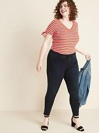 High-Waisted Secret-Slim Pockets + Waistband Plus-Size Rockstar Super Skinny Jeans