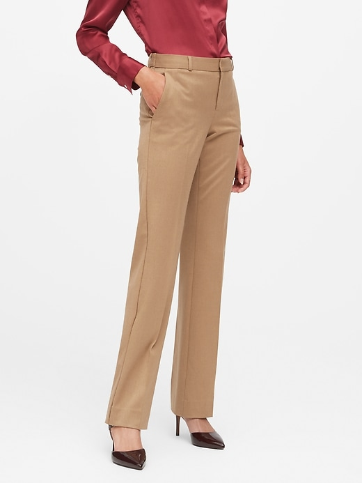 Petite Logan Trouser-Fit Flannel Pant