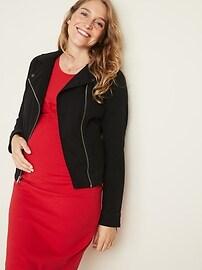 Maternity Twist-Front Bodycon Dress