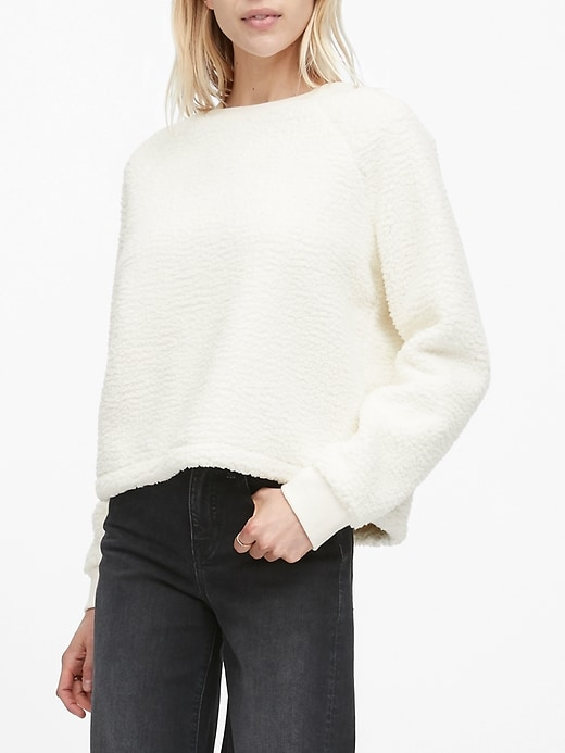 Sherpa Fleece Crew-Neck Sweatshirt