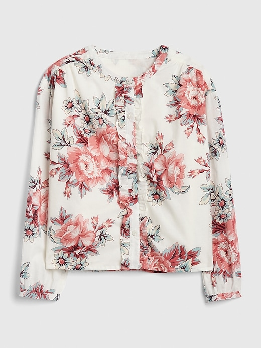 Kids Floral Ruffle Top
