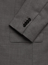 Veste de complet en laine italienne peau de requin, coupe standard