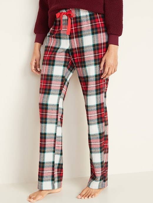 Patterned Flannel Pajama Pants for Women